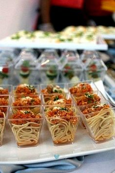Pasta is affordable and super cute when served in a glass! #minifoods