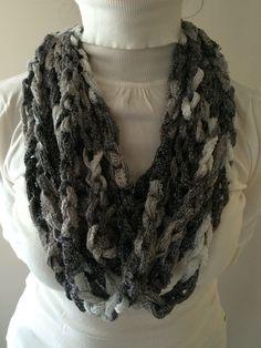 Crochet Sashay Scarf, Handmade, Chain Sashay Scarf , Spring fashion. on Etsy, $20.00