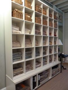 Fabric memo storage at bunny williams office