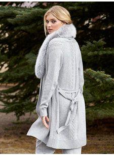maura long fox sweater