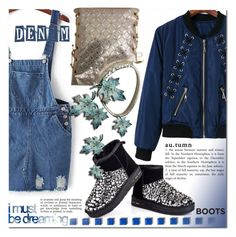 """""""Blue dreams"""" by jecakns ❤ liked on Polyvore featuring WALL"""