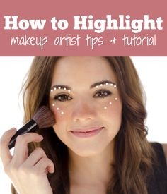 How to apply highlighter in seconds- NO brushes needed!