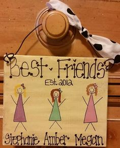4+Best+Friends+Stick+Figure+Sign+by+FamiliesStick2Gether+on+Etsy