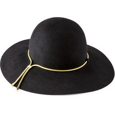 Lanvin Hat ($850) ❤ liked on Polyvore featuring accessories, hats, black, sombreros, lanvin hat, lanvin, bunny hat, black hat and bucket hats
