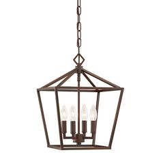 Millennium Lighting 12-in Rubbed Bronze Vintage Single Cage Pendant $140 Lowes