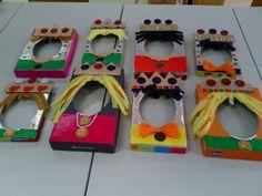 máscaras con tapas de cajas