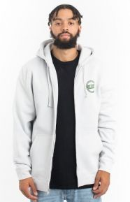 Stussy Clothing, International Dot Zip-Up Hoodie - Fog