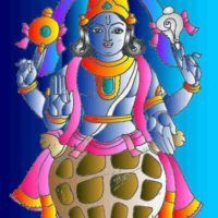 Dashavatar or dashavatara refers to the ten avatars of Lord Vishnu to restore the eradicate evil from earth and to restore the Dharma. Diy Wall Painting, Mural Painting, Krishna Painting, Krishna Art, Indian Folk Art, Lord Vishnu, Pencil Drawings, Collage Art, Avatar