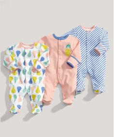 mamas & papas are really pulling out all the stops - LOVE THESE! Fruit All in Ones | Mamas & Papas | 0 - 3, 3 - 6 months