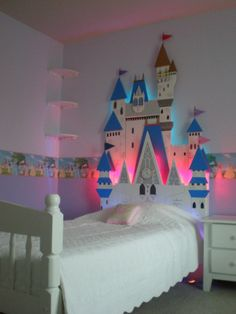 Aww... so beautiful. Castle headboard; Disney