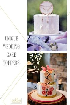 When your parents got married, the only option for personalizing a wedding cake topper was a deciding between blonde or brunette hair on the bride and groom statuettes. Nowadays, wedding decor becomes more and more creative, with couples personalizing their day in all kinds of different ways. Take your pick from some of fresh, playful, and unique wedding cake toppers ideas below! #weddingforward #wedding #bride #caketoppers