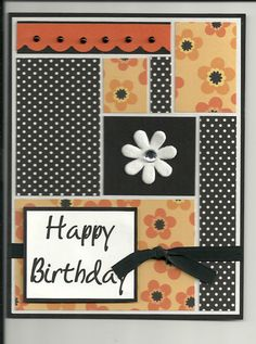 SCRAPS TO GOOD USE!Card: birthday color block