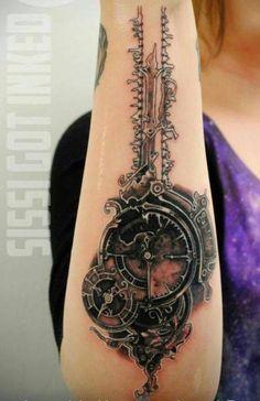 Steampunk tattoo - http://99tattoodesigns.com/steampunk-tattoo-2/