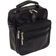 Roma Leathers Leather Travel Organizer Crossbody Shoulder Bag Black ** Find out more about the great product at the image link.