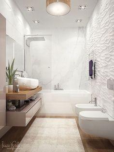 Bathtub Decor, Bathroom Tub Shower, Mold In Bathroom, Tub Shower Combo, Bathroom Vanities, Shower Rooms, Bathroom Marble, Marble Wall, Bath Tub