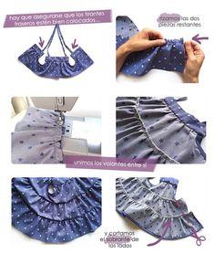Tutorial que muestra el paso a paso para confeccionar un vestido de bebé con patrón incluido. ¡Entra y hazlo tu misma para este verano!