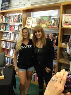 My agent, Lucienne Diver, in her customized Gated shirt and me.