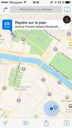 Placez un repère sur Google Maps pour retrouver votre voiture - Comment Faire 1. Après vous être garé, ouvrez l'application Google Maps ou Apple Plans sur votre iPhone ou Android. 2. Appuyez sur la flèche de localisation pour savoir où vous êtes garé. 3. Puis, laissez appuyé votre doigt sur l'écran pour placer le repère. 4. Quand vous souhaitez revenir à votre voiture, retrouvez le repère sur le plan et cliquez dessus pour avoir l'itinéraire depuis votre nouvel emplacement.