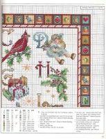 "ru / mornela - Альбом ""vol Christmas Alphabet, Christmas Books, Winter Christmas, Christmas Crafts, Xmas, Christmas Tree, Cross Stitch Alphabet, Cross Stitch Samplers, Cross Stitch Embroidery"