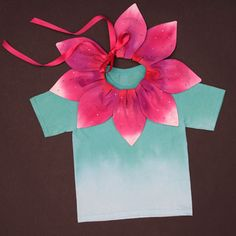 Petal flower costume #costume, Could do in 2 shades of green for Kermit, for Sofi.
