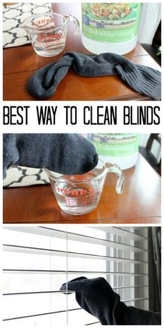 Best Way to Clean Blinds (Naturally) The best way to clean blinds - tips and tricks for doing it quicker, easier, and all naturally!The best way to clean blinds - tips and tricks for doing it quicker, easier, and all naturally! Household Cleaning Tips, Deep Cleaning Tips, House Cleaning Tips, Natural Cleaning Products, Cleaning Solutions, Cleaning Hacks, Diy Hacks, Toilet Cleaning Tips, Spring Cleaning Tips
