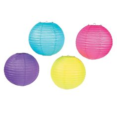 Bright Party Lanterns - OrientalTrading.com