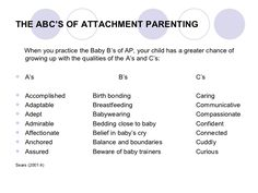 ABC of attachment parenting by Sears