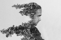 Head in the trees. Photoshop For Photographers, Photoshop Photography, Artistic Photography, Digital Photography, Photoshop Actions, A Level Photography, Experimental Photography, Art Photography, Double Exposure Photo