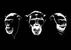 Three Wise Monkeys – Today in History Sketch Tattoo Design, Tattoo Sketches, Monkey Illustration, Three Wise Monkeys, Monkey Tattoos, Monkey Art, Lion Wallpaper, Today In History, Arte Pop