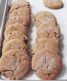 crackled on the top and soft on the inside ginger cookie. these are fantastic