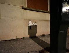 It's a complex play of graffiti, light, and shadow, Charlie Brown.