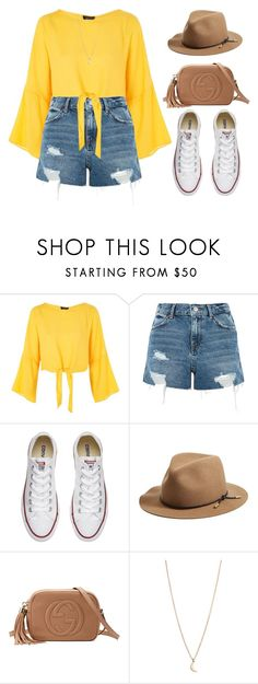 """yellow"" by vany-alvarado ❤ liked on Polyvore featuring Topshop, Converse, rag & bone, Gucci and Minor Obsessions"