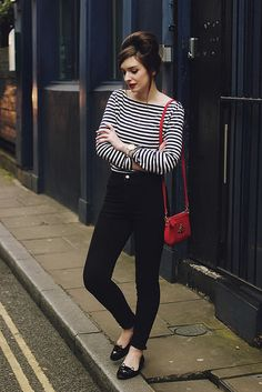 Breton Striped Tee Shirt sixties beehive beatnik by What Olivia Did