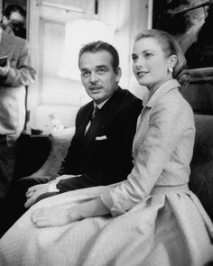 Grace Kelly with Prince Albert Of Monaco