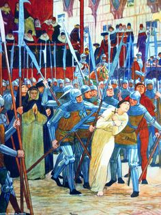 Joan of Arc being led to her execution