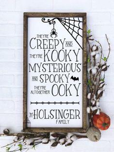 Halloween Wood Signs, Halloween Home Decor, Family Halloween, Halloween Projects, Diy Halloween Decorations, Halloween House, Holidays Halloween, Spooky Halloween, Happy Halloween