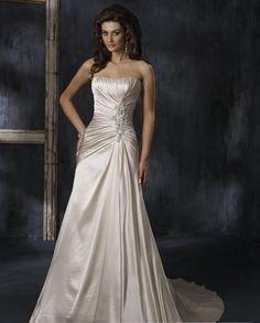 wedding dresses?wedding dresses a line strapless?wedding dresses zuhair murad tan strapless wedding dresses chapel train side tie
