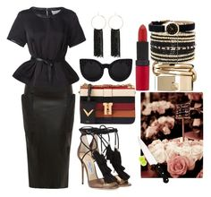 """""""EUROPE: PARIS DINNER"""" by staydiva on Polyvore featuring moda, Gyunel, 3.1 Phillip Lim, Valentino, Jimmy Choo, Eloquii, Bebe, Marc by Marc Jacobs y Rimmel"""