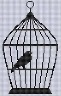 Looking for your next project? You're going to love Bird Cage Cross Stitch Pattern  by designer Motherbeedesigns. - via @Craftsy