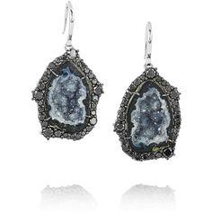 Kimberly McDonald 18-karat white gold, geode and diamond earrings ($13,555) found on Polyvore