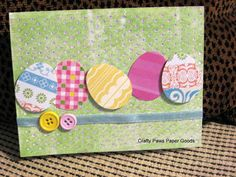 Easter Egg card - Easter Card on Etsy, $4.00