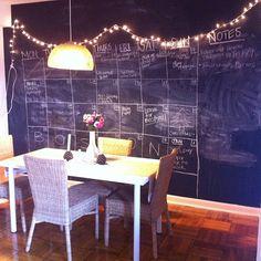 Love the blackboard wall