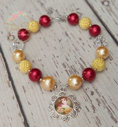 Princess Belle Inspired Necklace