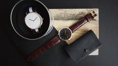 Daniel Wellington, Watches, Leather, Accessories, Fashion, Wrist Watches, Moda, Wristwatches, Fashion Styles