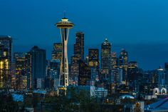 Seattle (U.S.A., State Washington), after sunset. Source: NLC