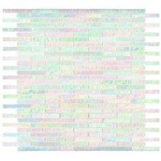 Ro's bath?  (clearly, something iridescent is calling me for that room.) Elida Ceramica�13-in x 14-in Oyster Brick Glass Mosaic Wall Tile (Actuals 13-in x 14-in)
