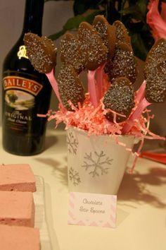 Chocolate Stir Sticks for the hot cocoa bar