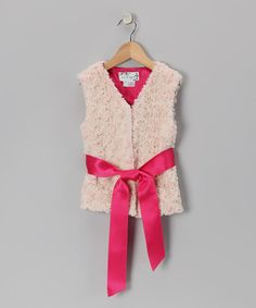 Kate has this faux shearling vest! It's SO soft + adorable! CiCi & Ryann Pink Faux Shearling Vest on #zulily today!