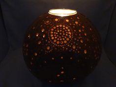 Photophore gourd PH0315N10. Diameter 20 cm. Wood wax