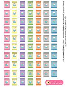 Free Printable Washing Machine Stickers